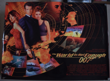 World is Not Enough Original DS UK Quad Poster, Pierce Brosnan is James Bond, 99 (VG)